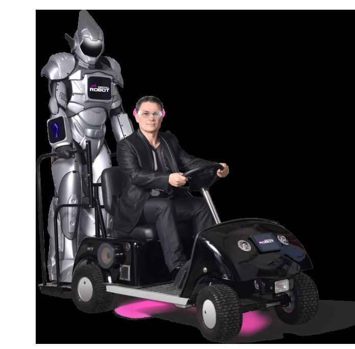 My digital robot, animation digitale et numérique réalisée par 2 magiciens professionnels, spécialisés dans la magie numérique sur IPAD.